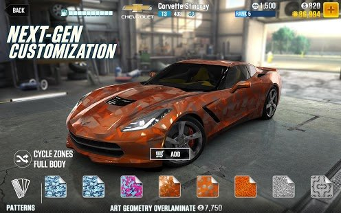 Screenshot CSR Racing 2