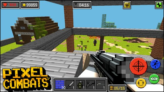 Screenshot Pixel Combats: guns and blocks